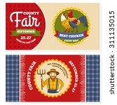 county fair vintage invitation... | Shutterstock .eps vector #311135015