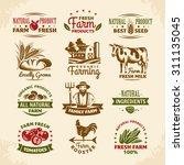 vintage farm labels vector...   Shutterstock .eps vector #311135045
