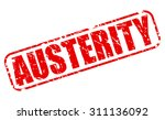 Austerity Red Stamp Text On...