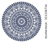 mandala. vintage decorative... | Shutterstock .eps vector #311136716