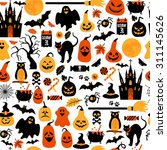 seamless pattern of halloween | Shutterstock .eps vector #311145626
