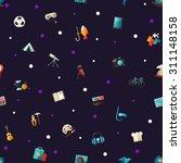 postcard of vector flat design... | Shutterstock .eps vector #311148158