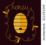 background design with honey... | Shutterstock .eps vector #311151245