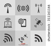 wifi icon vector eps10 eps jpg... | Shutterstock .eps vector #311161166