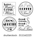 set of designs with quotes for... | Shutterstock .eps vector #311162225