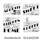 wall decal set to decorate...   Shutterstock .eps vector #311162228
