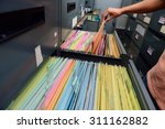 archive files office document... | Shutterstock . vector #311162882