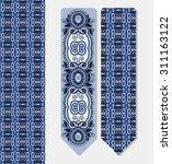 floral decorative ethnic... | Shutterstock .eps vector #311163122
