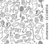 seamless sport equipment... | Shutterstock .eps vector #311168516