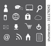 web and internet icons set... | Shutterstock .eps vector #311178242
