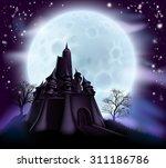 Halloween Castle Background...
