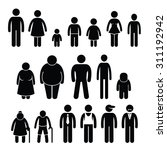 people character man woman... | Shutterstock . vector #311192942