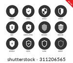 shield vector icons set.... | Shutterstock .eps vector #311206565