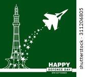 vector celebrating defence day... | Shutterstock .eps vector #311206805