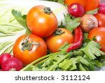 tomatoe parsley cabbage onion...