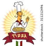 italian chef with original... | Shutterstock .eps vector #311212496