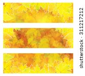 autumn orange banners with... | Shutterstock .eps vector #311217212