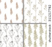 seamless set hand draw summer... | Shutterstock .eps vector #311217782