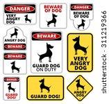 Danger Dog Signs Humorous Comi...
