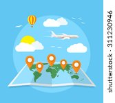 picture of world map with... | Shutterstock .eps vector #311230946