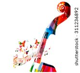 colorful violoncello pegbox... | Shutterstock .eps vector #311236892