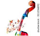 colorful violoncello pegbox... | Shutterstock .eps vector #311236892