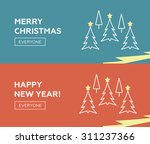 christmas banners with a... | Shutterstock .eps vector #311237366