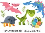 collection of cute cartoon... | Shutterstock .eps vector #311238758