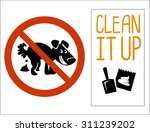 no dog pooping signs. isolated... | Shutterstock .eps vector #311239202