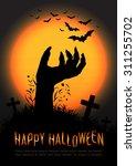 halloween concept background ... | Shutterstock .eps vector #311255702