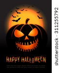 halloween pumpkin vector...   Shutterstock .eps vector #311255792