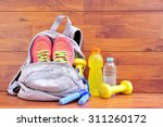Sports Bag With Equipment On...