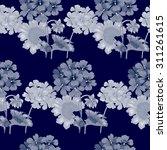 background with geranium...   Shutterstock .eps vector #311261615