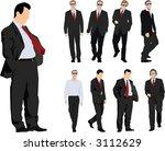 group of nine powerful... | Shutterstock .eps vector #3112629