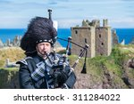 traditional scottish bagpiper... | Shutterstock . vector #311284022