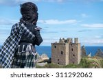 traditional scottish bagpiper... | Shutterstock . vector #311292062