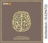 brain icon | Shutterstock .eps vector #311296712