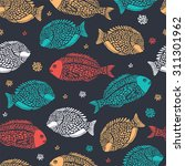 marine seamless pattern with... | Shutterstock .eps vector #311301962