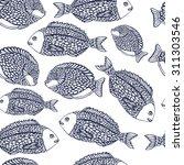 sea pattern with ocean fish. | Shutterstock .eps vector #311303546