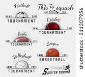 sports teams badges logos and...   Shutterstock .eps vector #311307956