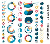 mega set of 3d  plastic and... | Shutterstock .eps vector #311315336