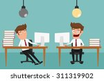 two businessman are different... | Shutterstock .eps vector #311319902
