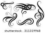 calligraphic elements filigree... | Shutterstock .eps vector #311319968