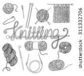 hand drawn knitting collection | Shutterstock .eps vector #311332706
