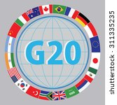 g20 countries flags or flags... | Shutterstock .eps vector #311335235