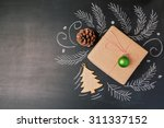 christmas holiday gift on... | Shutterstock . vector #311337152