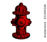 fire hydrant | Shutterstock .eps vector #311344106