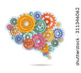 various flat style color gears... | Shutterstock .eps vector #311346062