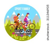 sport family concept with... | Shutterstock .eps vector #311346935