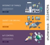 internet of things smart car... | Shutterstock .eps vector #311349296